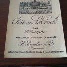 Wine Label Château Le Crock Saint Estephe 1947 New