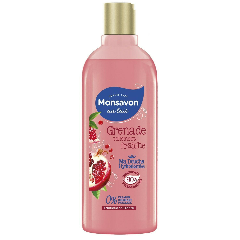 lot 3 MONSAVON pomegranate / hibiscus flower shower gel 300 ml