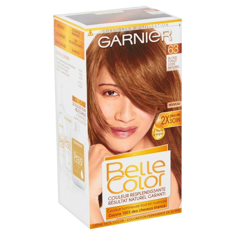 Permanent color 63 dark golden natural blond GARNIER BELLE COLOR
