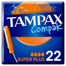 lot 3 x 22 TAMPAX: Compak - Tampons with super plus applicator