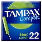 set 3 x 22 Compak Tampax Super pads