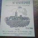 "new wine label ""la croix"" saint estephe 1976"