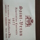 Saint Veran 1977 New Wine Label