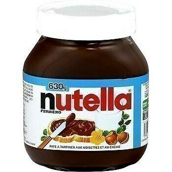 lot 3 Hazelnut and cocoa spread 630 gr nutella