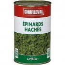 Chopped spinach 3.995 kg net charleval drips