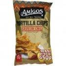 lot 3 tortilla chips chili flavor 450 gr amigo