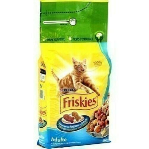 lot 3 Salmon and vegetable croquettes for adult cats 2 kg friskies