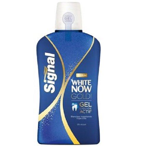 lot 3 Signal White Now Active Gel mouthwash - 500ml