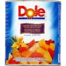 Tropical fruits (pineapple, papaya, guava) in light syrup 1829g net dole drip