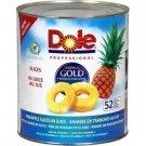 Tropical Gold sliced pineapple 1800 g net dole drip