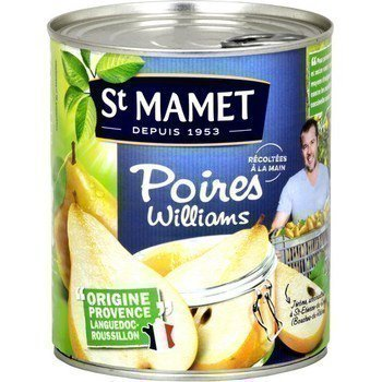lot of 3 williams pears in syrup 455 gr saint mamet