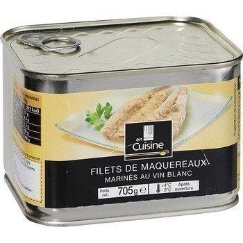 Mackerel fillets marinated in white wine 705 g in the kitchen
