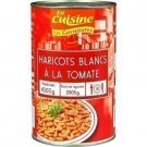 White beans with tomato 2505 g net drained in the kitchen