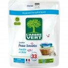 Liquid Laundry Detergent Refill Organic Hypoallergenic Sensitive Skin L'ARBRE VERT 1,5L