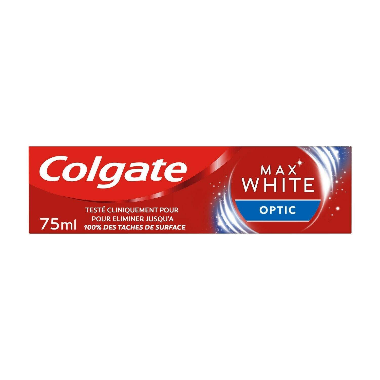 lot 3 COLGATE instant whitening Max White Optic toothpaste 75 ml