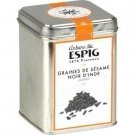 Whole Indian black sesame seeds 300 g espig