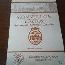 Monseillon Bordeaux 1983 New wine labels