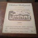 Château Bellegarde Margaux 1999 New Wine Label