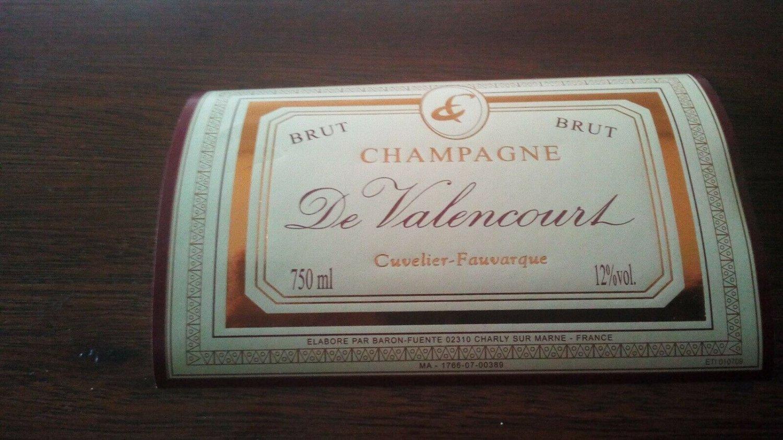 Champagne Label Valencourt