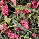 loose green tea strawberry pistachio jar 50 gr damman frere