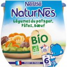 lot 3x2 Baby dish from 6 months, vegetables Pasta Organic beef NATURNES 190 gr