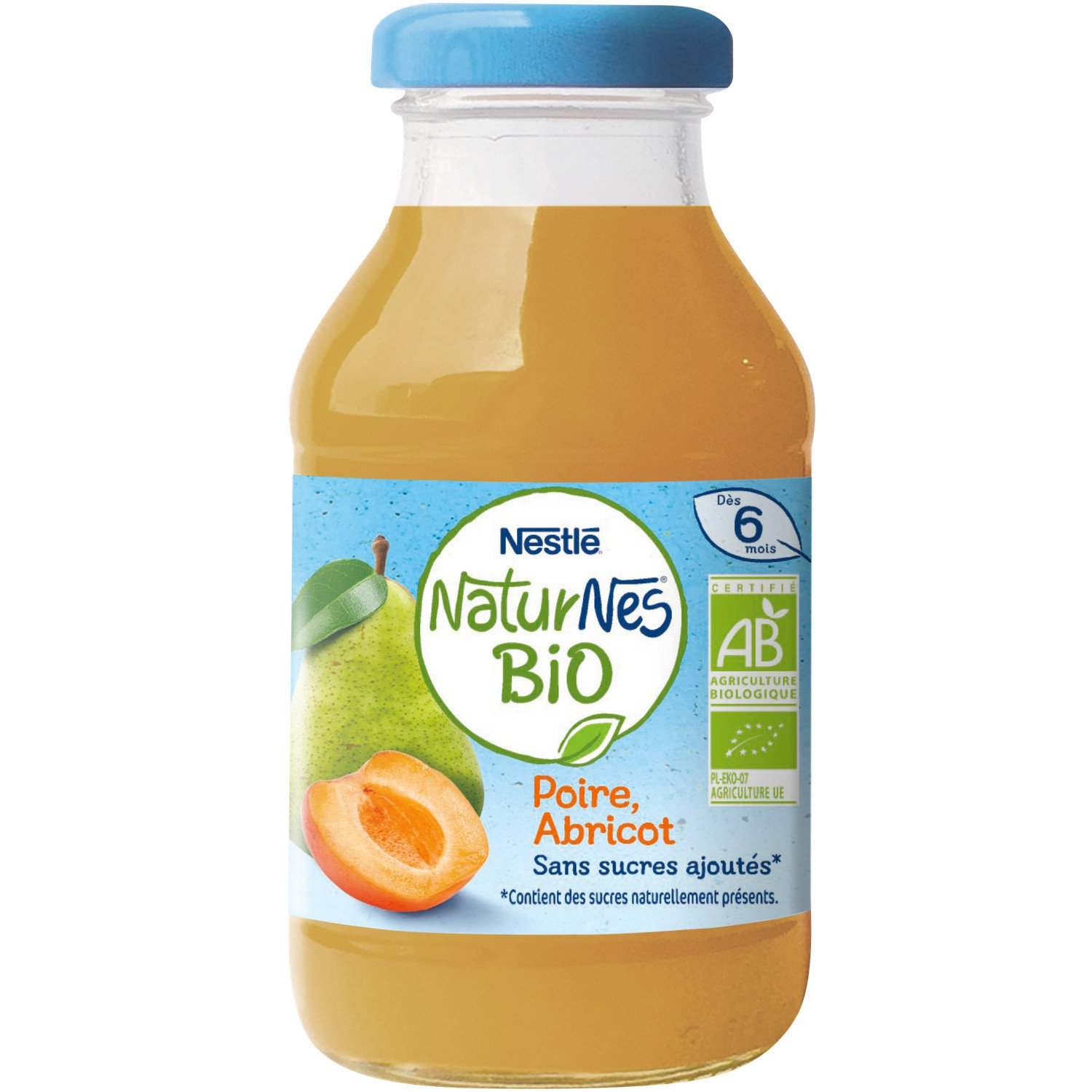 lot 3 Organic baby drink pear apricot dice 6 months without added sugar NESTLE 200ml