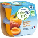 lot 3 x 2 Organic baby compotes from 6 months old apple peach apricot no added sugar NATURNES