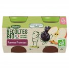 lot 3x2 Organic baby compotes, apples and prunes from 4/6 months BLEDINA 130 gr