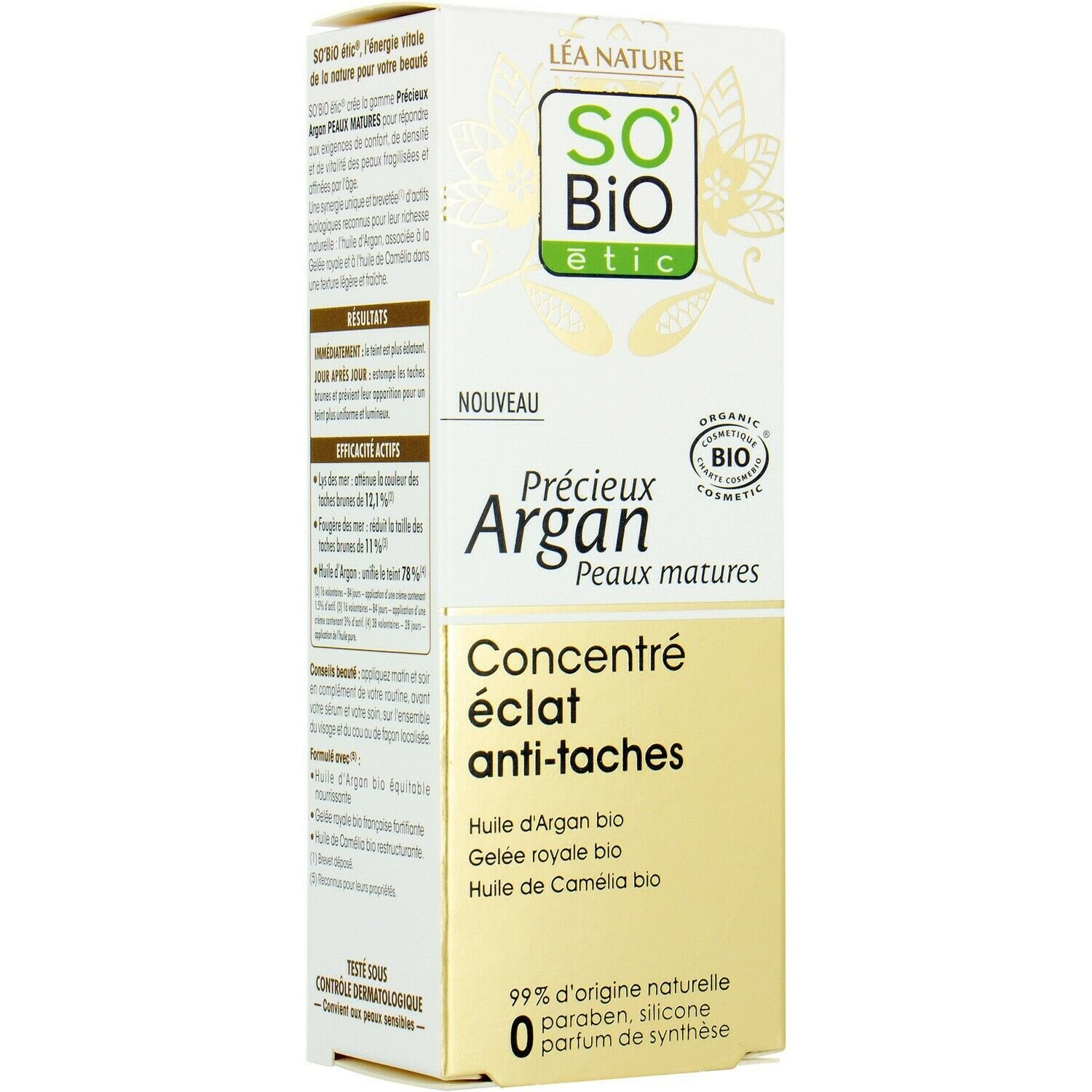 SO'BIO ETIC Argan Oil Concentrate Concentrate Anti Stain 40ml