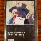 John Denver's Greatest Hits 1973 Cassette Tape