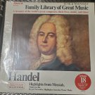 Funk & Wagnall's Family Library Of Great Music Handel Album 18 LP Record