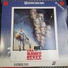 Video Laserdisc The Right Stuff NASA Mercury Project