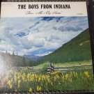 The Boys From Indiana Show Me My Home Autographed Signed Harley Gabbard LP Record