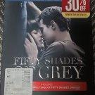 50 Fifty Shades of Gray Blu Ray + DVD + Digital New Sealed