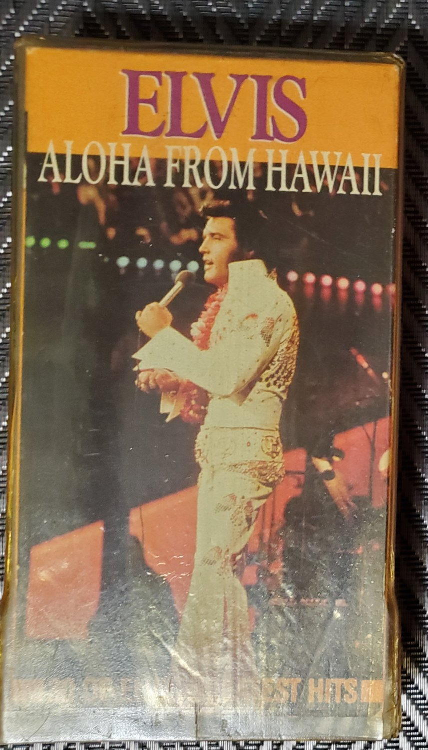 Video Tape VHS Elvis Presley Aloha From Hawaii Live In Concert 30 Hits