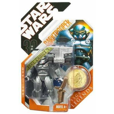 Star Wars 30th Anniversary / Saga Legends : EU Darktrooper w/ Gold Coin