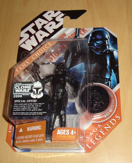 Star Wars 30th Anniversary / Saga Legends : Shadow Stormtrooper w/ Black Coin