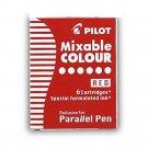 Pilot IC-P3-S6 Parallel Pen Refills (6 refills per pack) - Red #9711