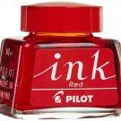 Pilot INK-30 Fountain Pen Refill Bottled Ink (30ml) - Red #12053