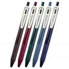 Zebra Sarasa Clip Vintage JJ15-5CVI 0.5mm Gel Pens (Pack of 5) - 5-Assorted Barrel Colors #14278