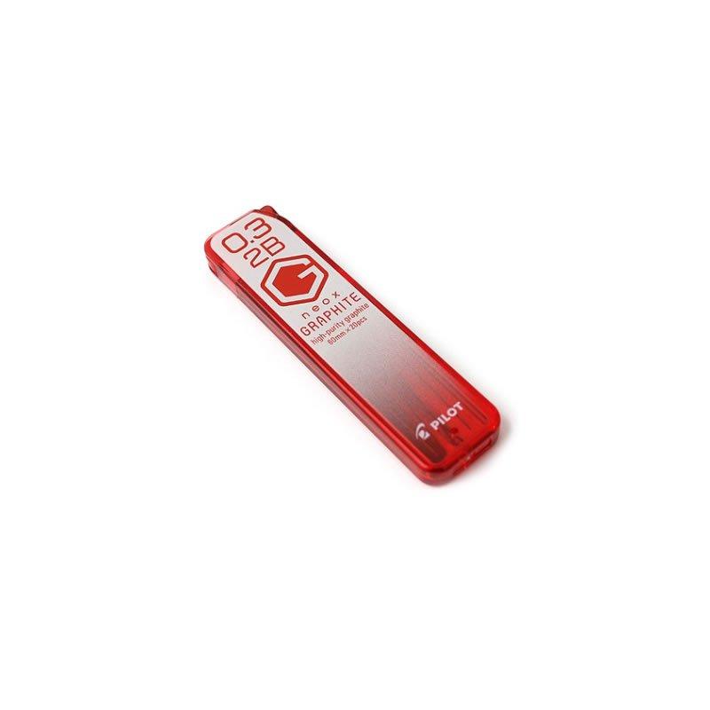 Pilot neox GRAPHITE HRF3G-20-2B 0.3mm 2B Graphite Refill Leads (20pcs per tube) #12081