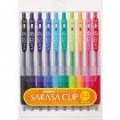 Zebra Sarasa JJ15-10C 0.5mm Gel Ink Pens (10 Colors) - Assorted #7123