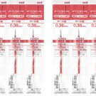 Uni Jetstream SXR-38 0.38mm Ballpoint Pen Refills (Pack of 10) (for SXN-150-38) - Red #13375