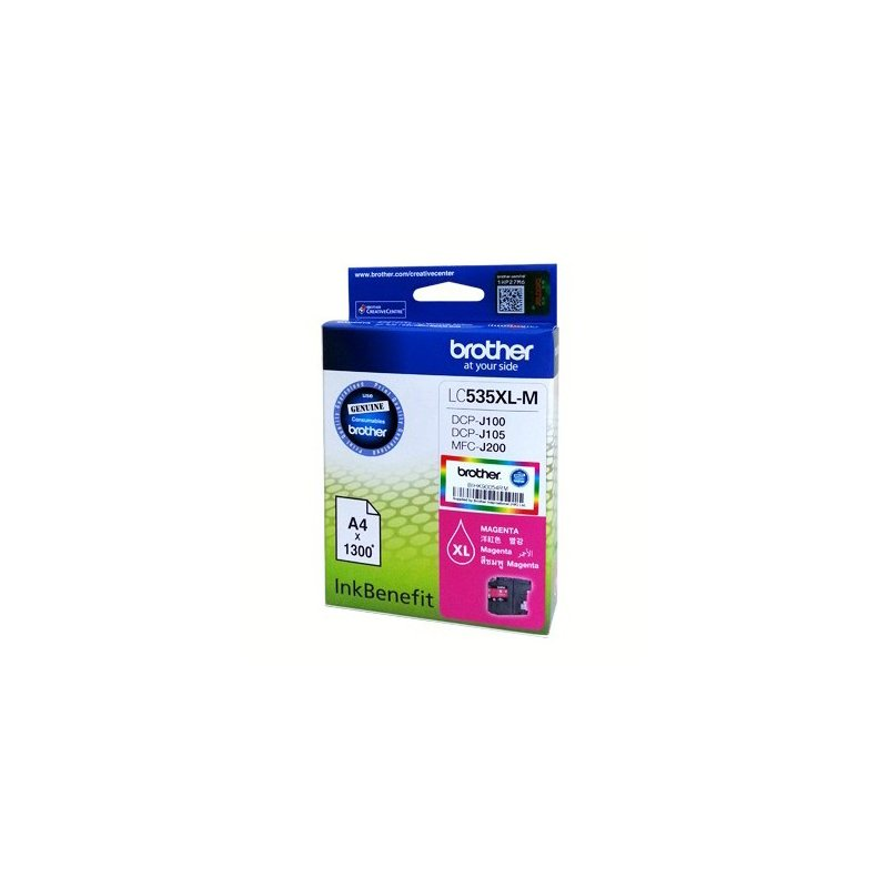 Brother LC535XL High Ink Yield Cartridge (for J100/J105/J200) - Magenta Ink #9257