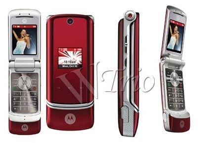 Motorola KRZR K1 Red Mobile Cellular Phone