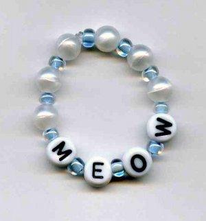 MEOW cat or kitten bracelet