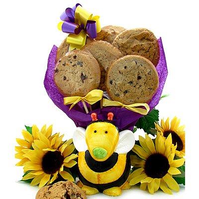 Bee Planter with 6 Gourmet Cookies