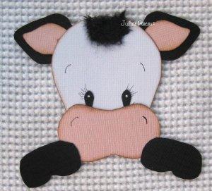HANDMADE paper piecing cow for scrapbooking