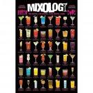Mixology Cocktail Mixed Drinks Chart Cool Wall Decor Art Print Poster 24x36