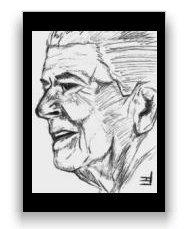 """Reagan Sketch Postcard 4.25""""x6"""""""